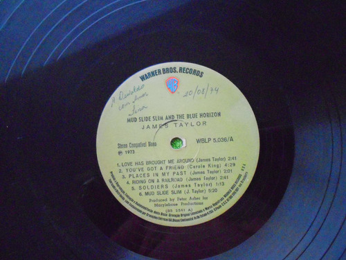 lp james taylor p/1973 one man dog