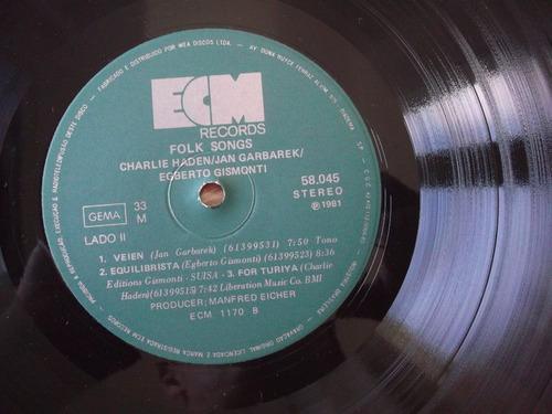 lp jan garbarek, charlie haden, egberto gismonti: folk songs