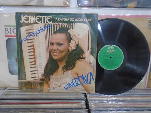 lp - jeanette / a rainha do acordeon / polyfar / 1982