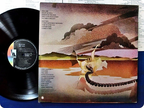 lp jerry garcia ( grateful dead ) - reflections - japan ex