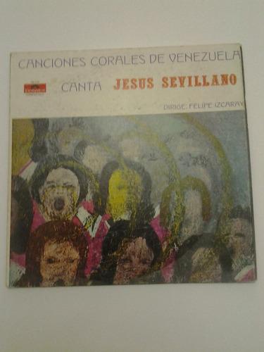 lp jesús sevillano canciones corales de venezuela