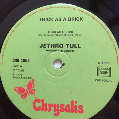 lp jethro tull - thick as a brick import capa jornal 72 raro