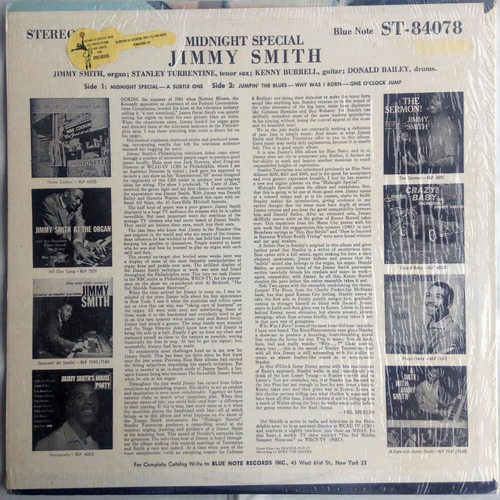 lp jimmy smith midnight special importado