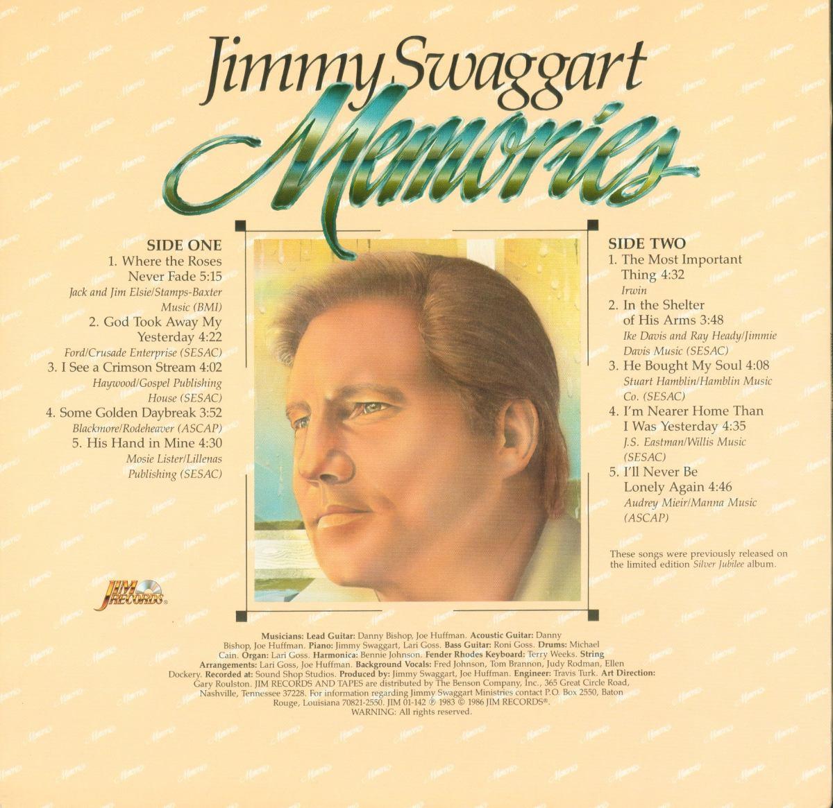 Lp Jimmy Swaggart - Memories