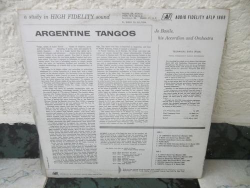 lp joe basile -  argentine tangos /  vinilo exc estado