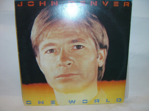lp john denver - one world - prat. novo