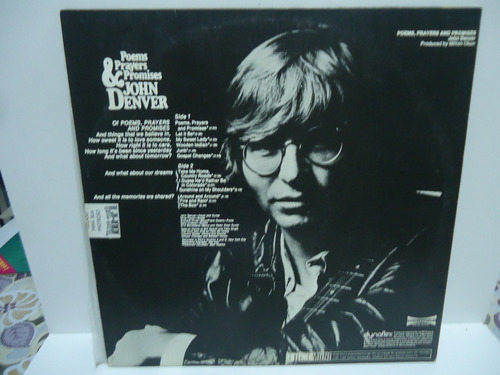 lp john denver poems, prayers and promises selo rca 1974