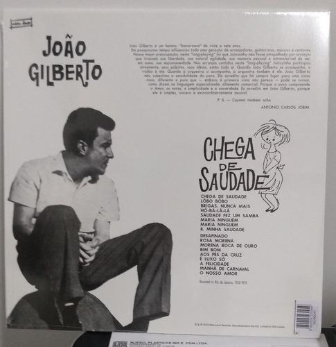 lp joão gilberto chega de saudade - reedição 2018 180g