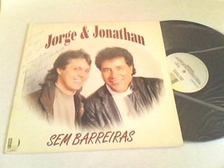 lp jorge & jonathan - sem barreiras (autografado)