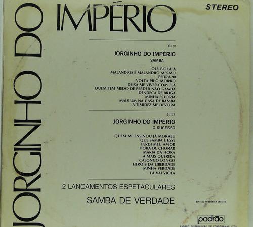 lp jorginho do imperio - samba - j028
