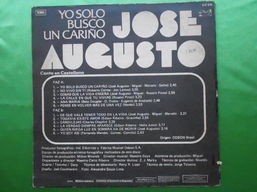lp jose augusto p/1974 -en castellano yo solo busco un carin