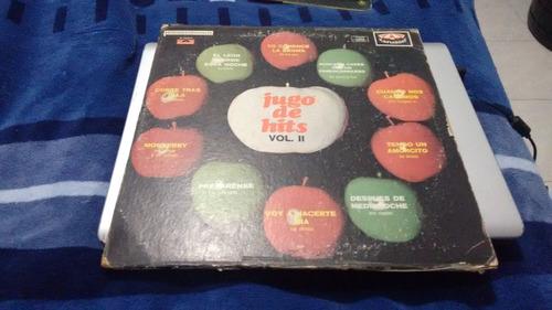 lp jugo de hits vol ii en formato acetato,long play