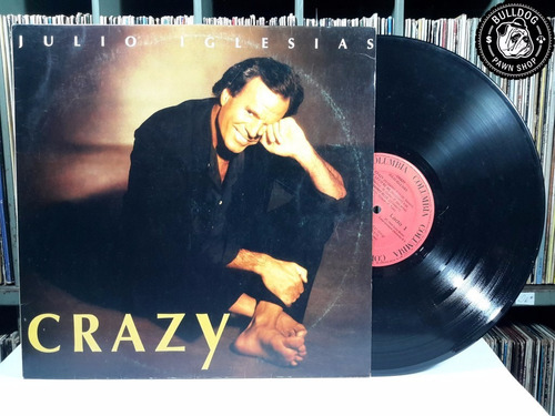lp julio iglesias crazy c/ encarte - veja o video - dj