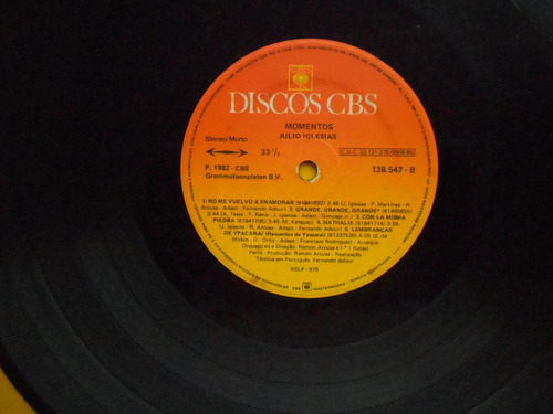 lp julio iglesias p/1982- momentos disco 01 mg