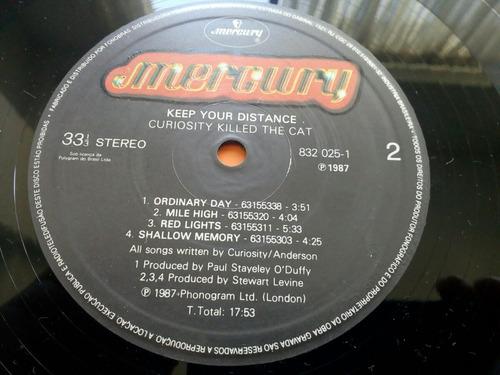 lp - keep your distance - curiosity killed the cat - 1987