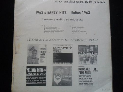lp lawrence welk 1963's early hits