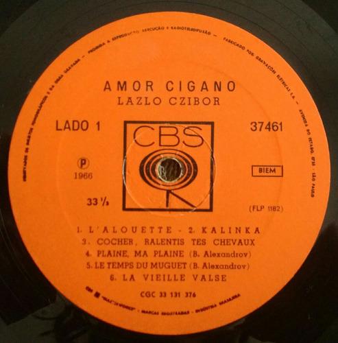 lp lazlo czibor amor cigano violin jazz folk kalinka vg