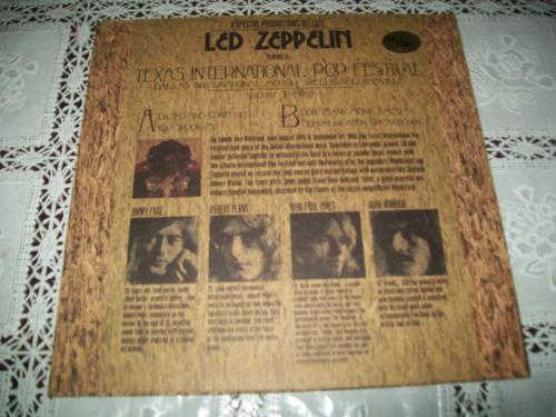 lp led zeppelin texas internacional pop festival raríssimo