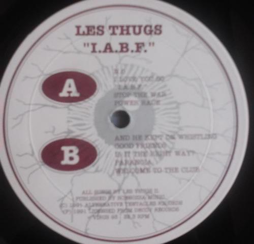 lp les thugs i.a.b.f  raríssimo importado punk colecionador