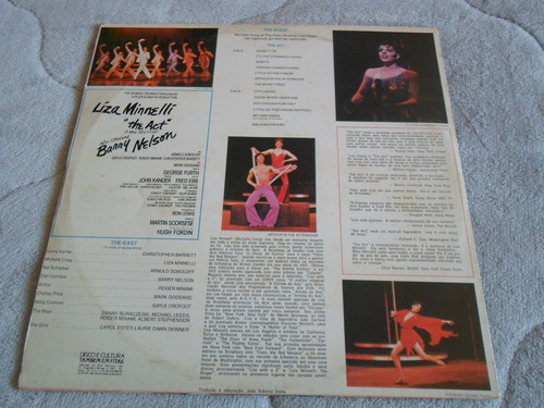 lp liza minneli / the act / ano 1978