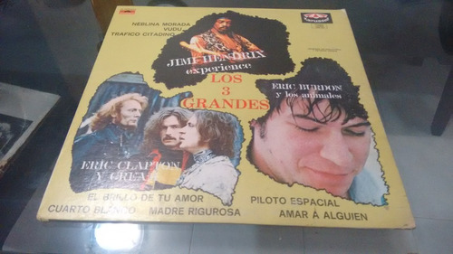 lp los 3 grandes,eric burdon,jimmy hendrix acetato,long play