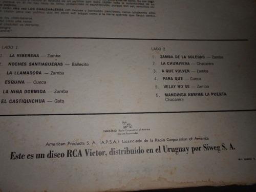 lp - los chalchaleros - otra vez - folk latino import raro