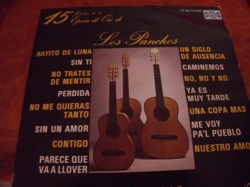 lp los panchos, 15 melodias epoca de oro,
