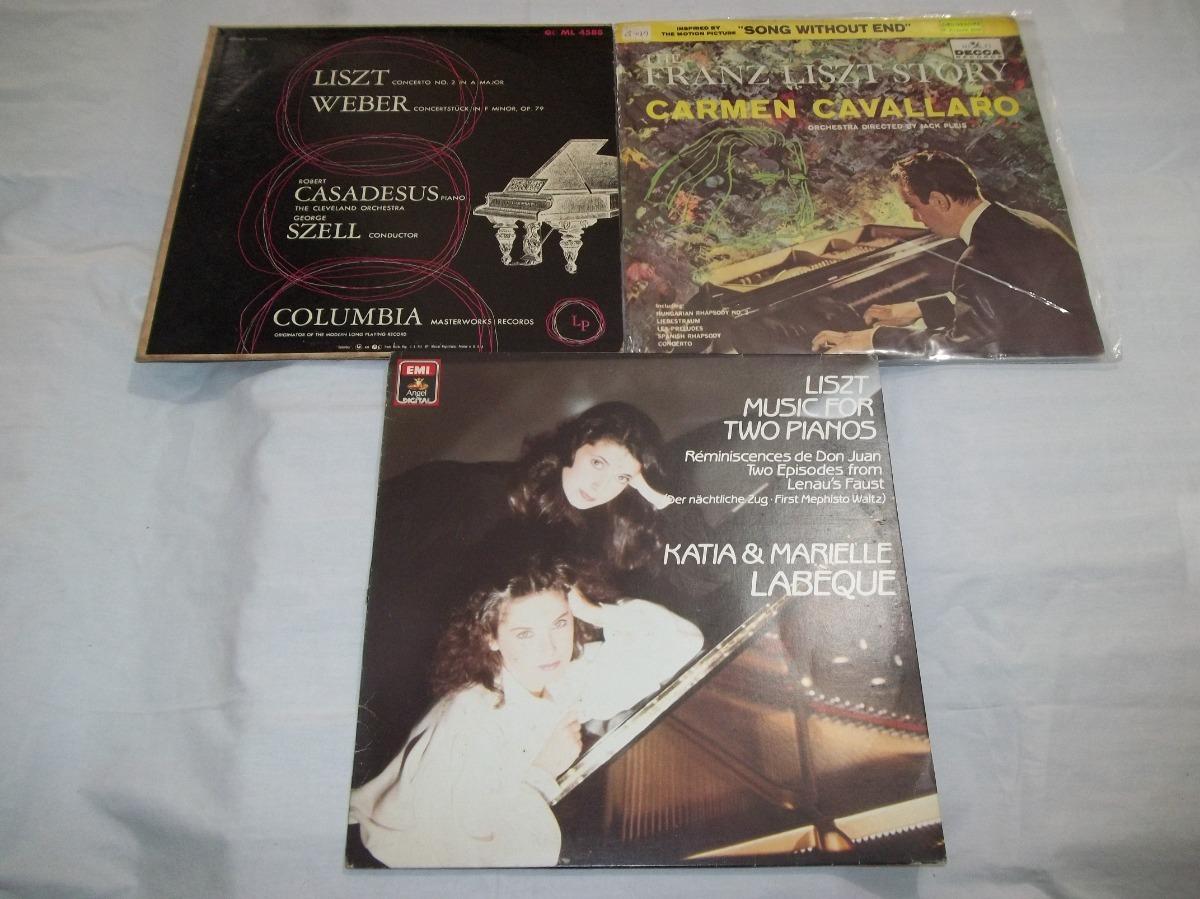 Lp Lote 18 Discos Franz Liszt - Música Clássica