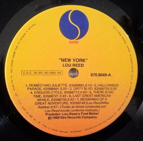 lp lou reed - new york - br - 1989 - impecável