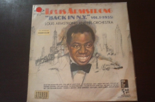 lp louis armstrong. back in new york, vol 1.