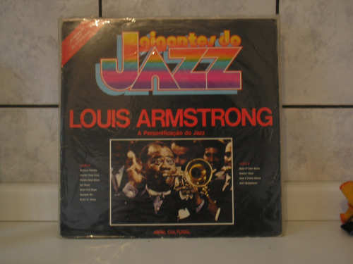 lp louis armstrong - gigantes do jazz
