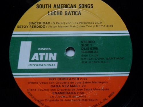 lp lucho gatica south american songs