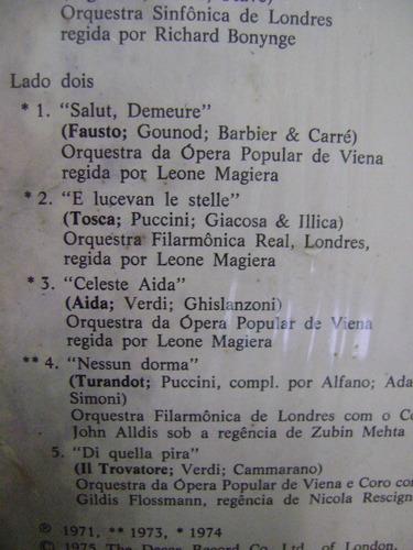 lp luciano pavarotti árias tenor favoritas aida carmen