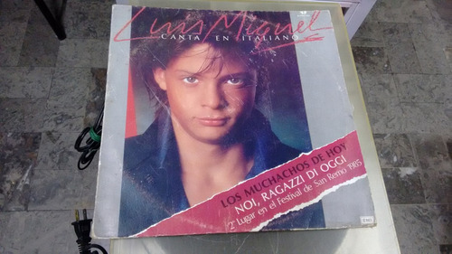 lp luis miguel canta en italiano formato acetato,long play