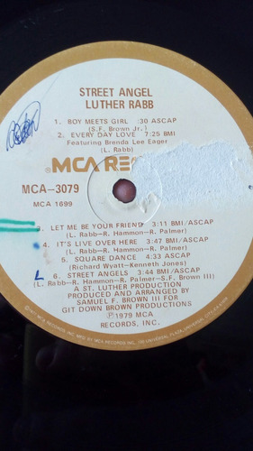 lp - luther rabb - street angel - pres. 1979 usa.