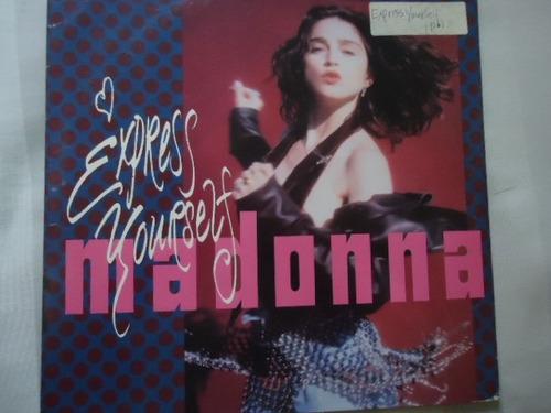 lp - madonna single - express yourself - importado - 12´´