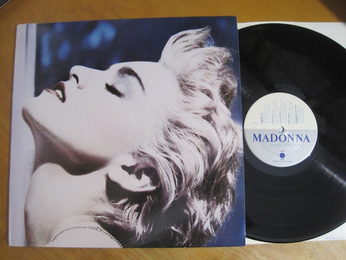 lp madonna - true blue - importado com poster - r$ 180,00