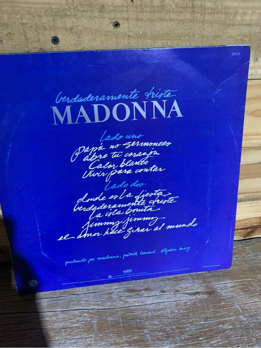 Lp Madonna True Blue Vinilo Original 1986 La Isla Bonita