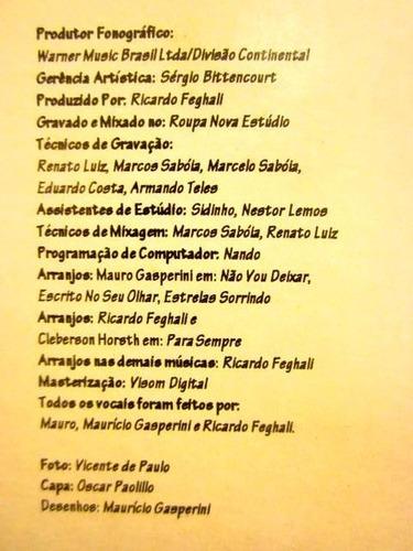 lp mano a mano - para sempre (1995) c/ encarte