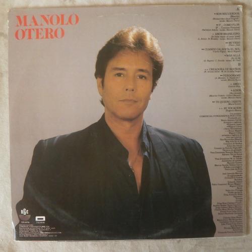 lp manolo otero 1989 super romântico, disco vinil seminovo