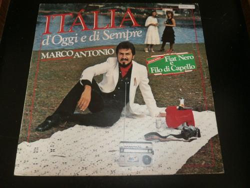 lp marco antonio - itália d' oggi e di sempre, vinil de 1983