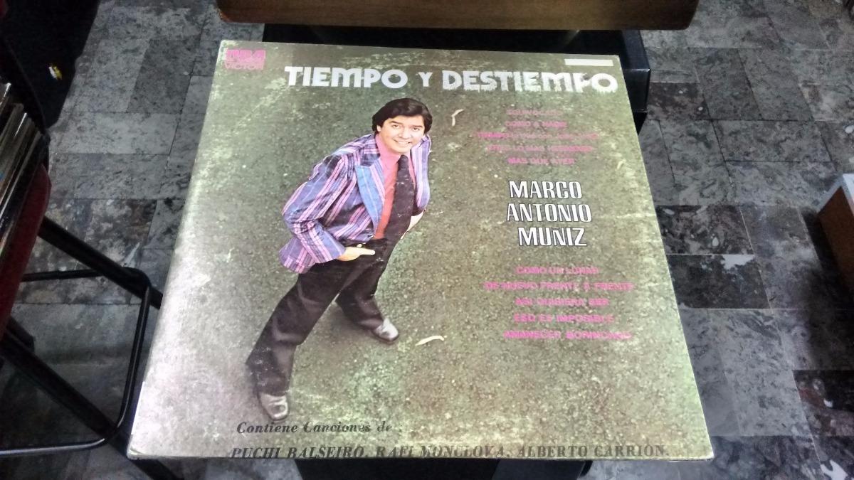 Lp Marco Antonio Muñiz Tiempo Y Destino En Acetato,long Play ...
