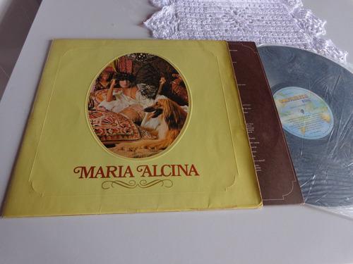 lp - maria alcina - sucessos - lp autografado