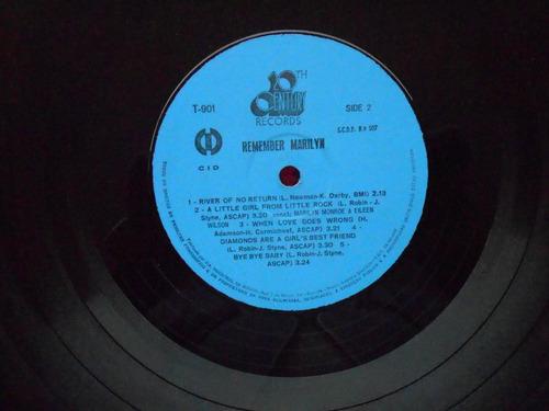 lp marilyn monroe p/1972- remember marilyn