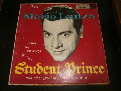 lp mario lanza - student prince, great musical comedies