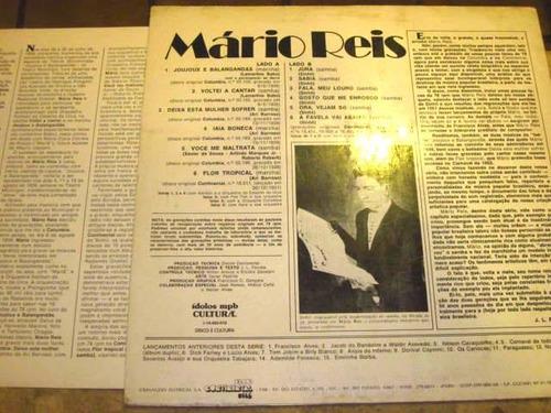 lp mario reis - joujoux balangandãs (1939/1951) c/ encarte