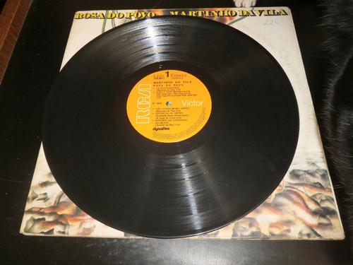 lp martinho da vila - rosa do povo, vinil capa dupla, 1976