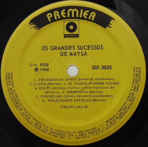 lp maysa - os grandes sucessos de maysa - 1968 - premier