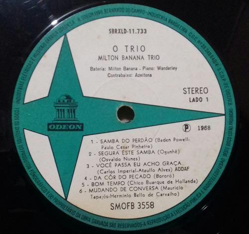 lp milton banana trio o trio 1968