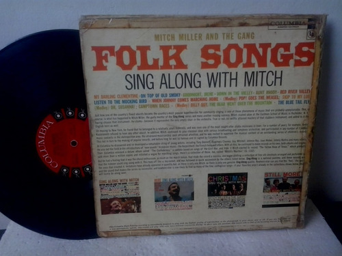 lp mitch miller and the gang - folk songs sig along with mit